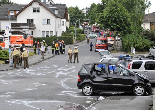 Následky tragické nehody v Mendenu