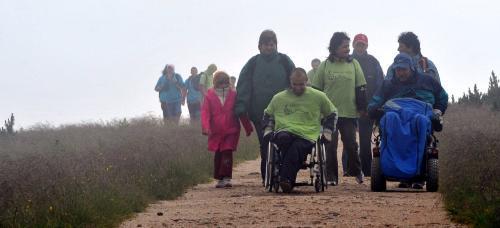 Handicapovaní u pramenu Labe