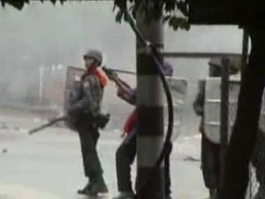 Potlačování demonstrace v Barmě