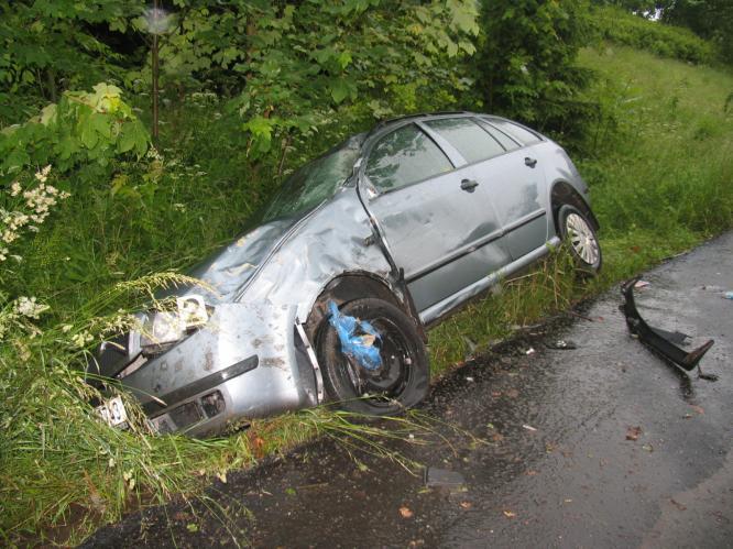 Škoda Fabia po vážné nehodě