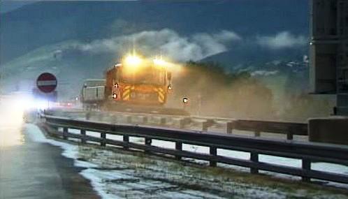Na rakouských dálnicích odklízeli v červenci sníh