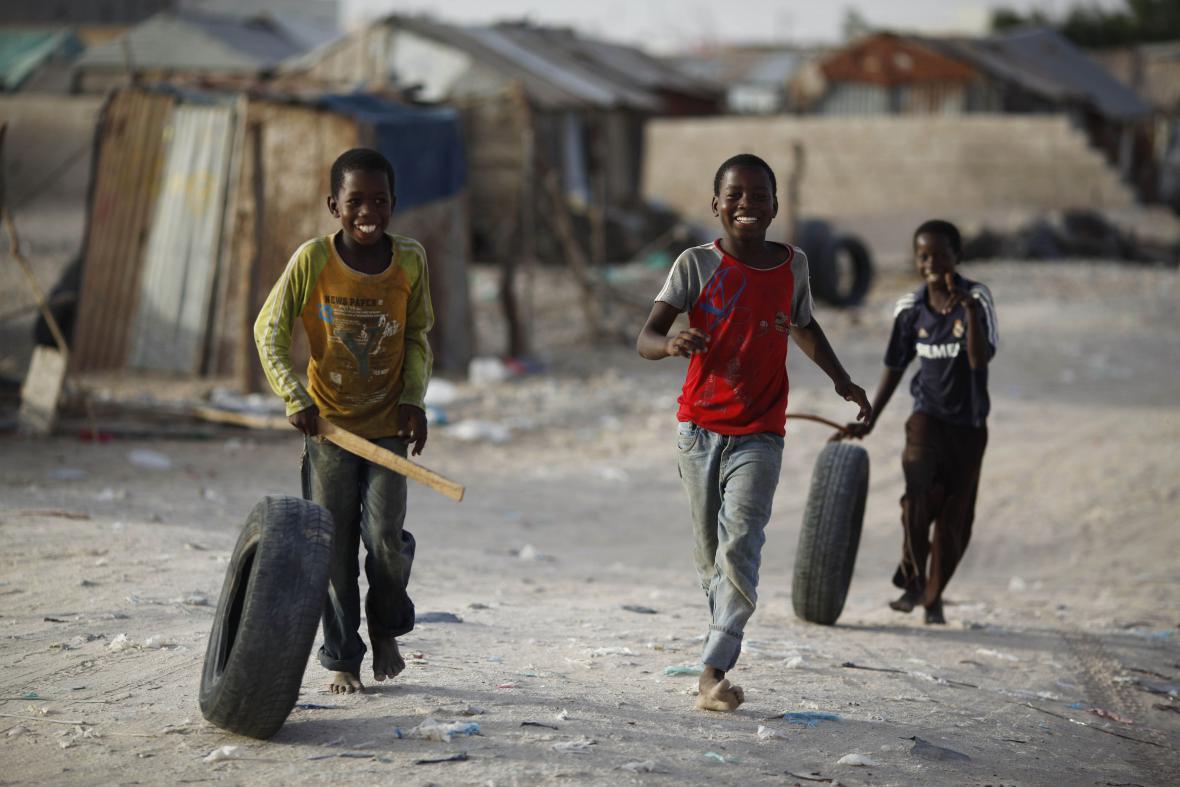 Hrající si děti v Mauritánii