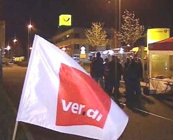 Stávka zaměstnanců německé pošty