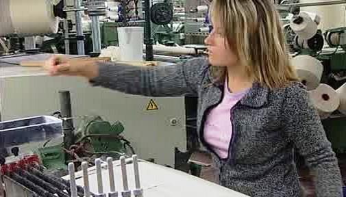 Zaměstnankyně textilky