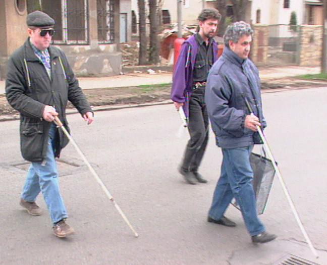 Slepí lidé na ulici