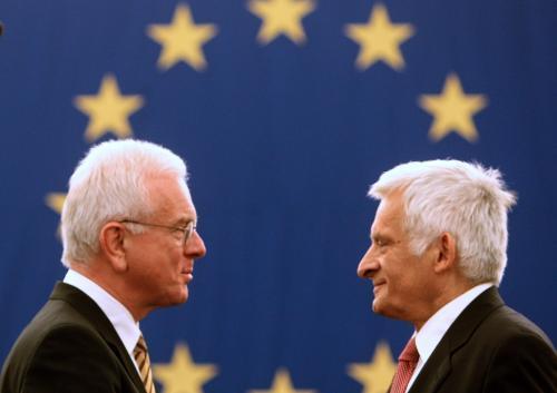Hans-Gert Pöttering a Jerzy Buzek