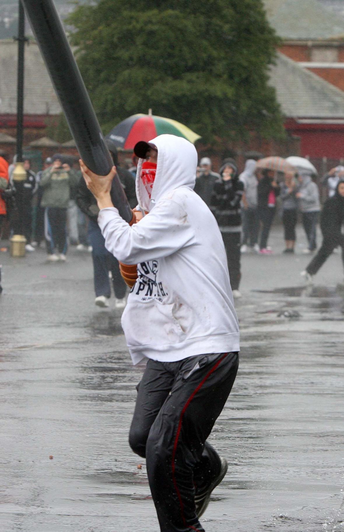 Katolík- výtržník v irském Belfastu