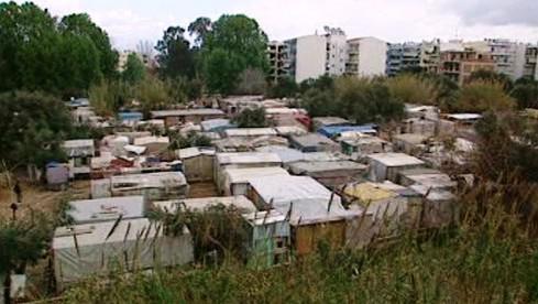 Uprchlický tábor v Patrasu