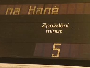 Informační tabule na nádraží