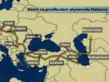 Návrh na prodloužení plynovodu Nabucco