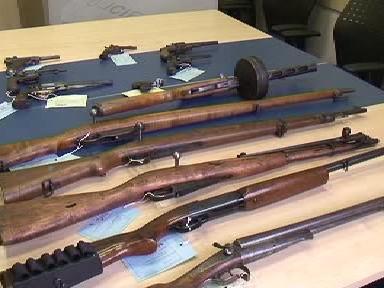Odevzdané nepřihlášené zbraně