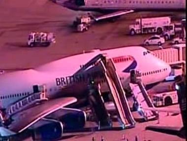 Evakuace z Boeingu 747