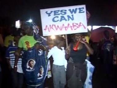 Ghaňané vítají Obamu