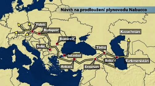 Nabuco - plnávaná trasa plynovodu
