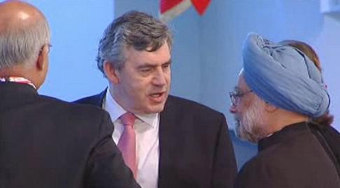 Gordon Brown a Manmohan Singh
