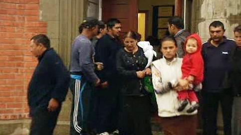 Rodina Rumunů v Belfastu