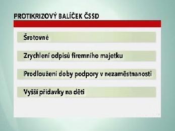 Protikrizový balíček ČSSD