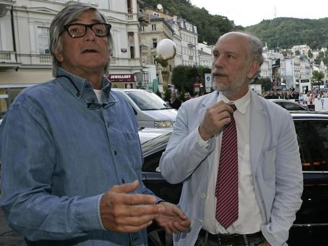 John Malkovich s Jiřím Bartoškou na MFFKV 2009