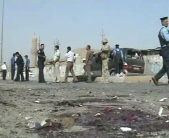 Následky výbuchu v Iráku