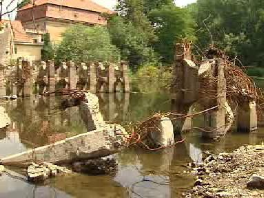 Zbytky kamenného mostu
