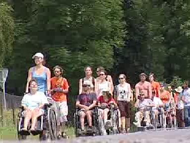 Vozíčkáři na putovním táboře