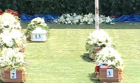 Pohřeb obětí nehody ve Viareggiu