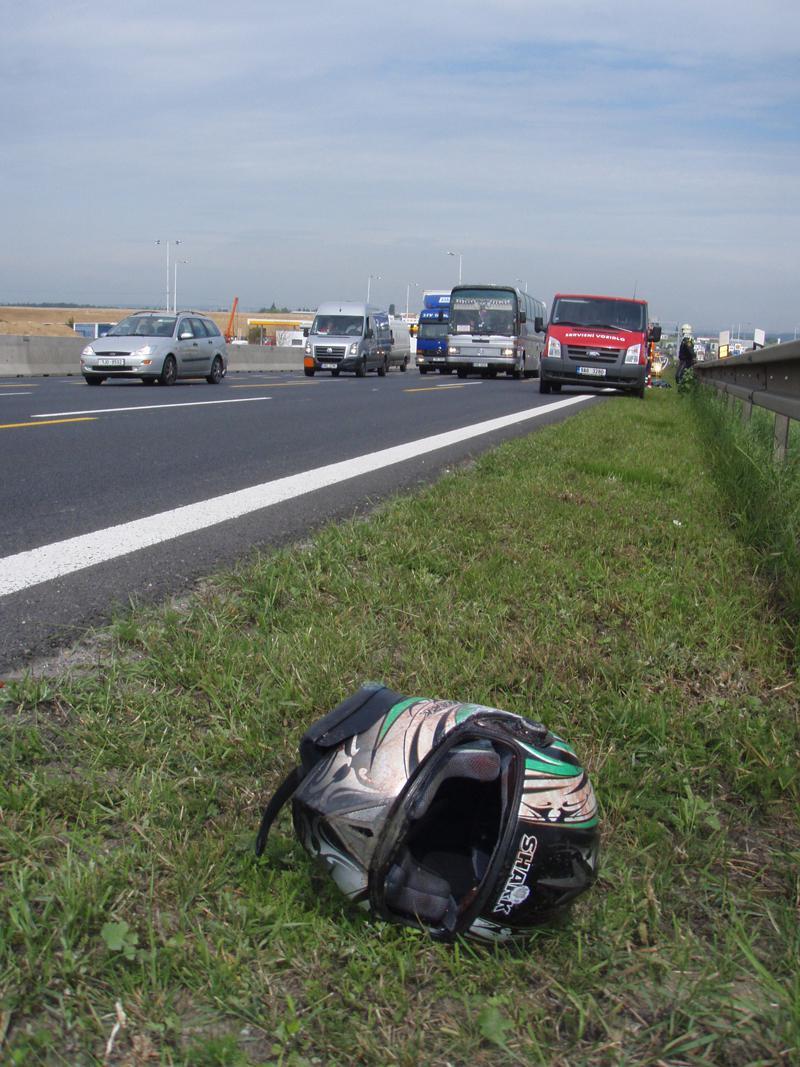 Nehoda motorkáře