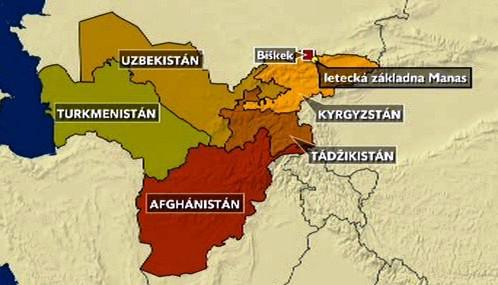 Americká vojenská základna Manas v Kyrgyzstánu