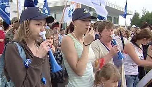 Protesty proti propouštění ve Stříbře