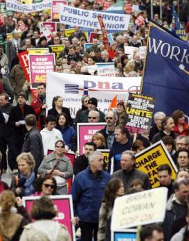 Demonstrace v Dublinu