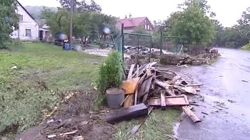 Škody po povodni v Novém Oldřichově