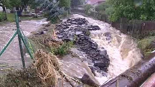 Sobotní záplavy v Novém Oldřichově
