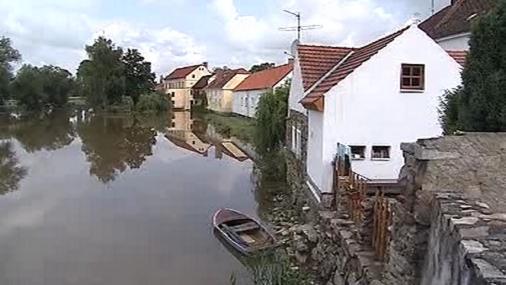 Dnešní stav vody v jihočeské Putimi