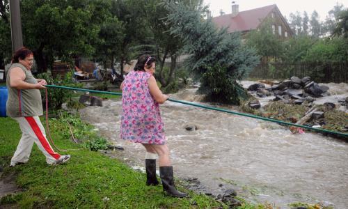 Boj oldřichovských občanů s vodním živlem