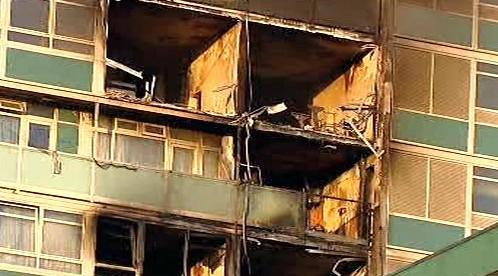 Následky požáru v Londýně