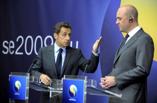 Nicolas Sarkozy a Fredrik Reinfeldt
