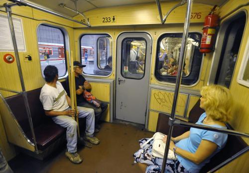 Poslední jízda ve starém typu metra