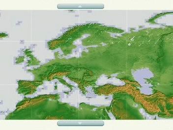 Podrobná mapa světa