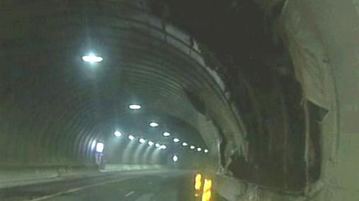Místo neštěstí v norském tunelu