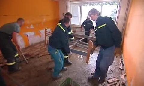 Odklízení povodňových škod