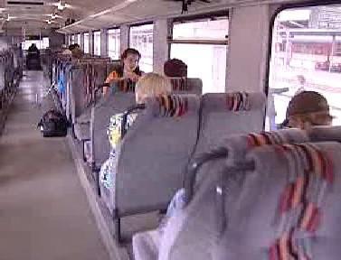 Cestující na regionální trati v Hrádku nad Nisou