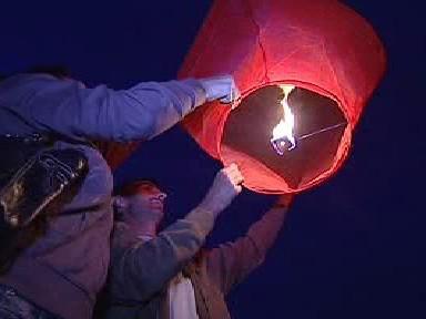 Vypouštění horkovzdušného balonu
