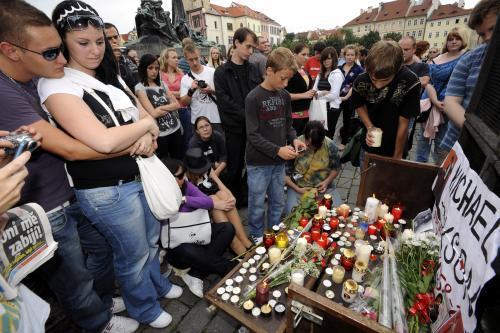 Uctění památky Michaela Jacksona v Praze