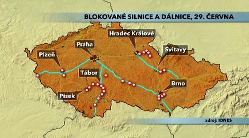 Blokované dálnice
