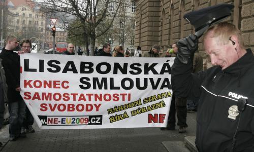Protesty před Ústavním soudem