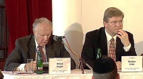 Miloš Pojar a Štefan Füle
