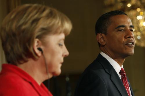 Angela Merkelová a Barack Obama