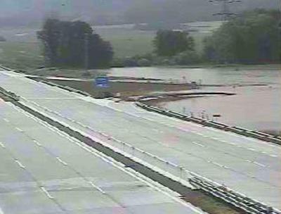 Záplavy na 308. km u D1