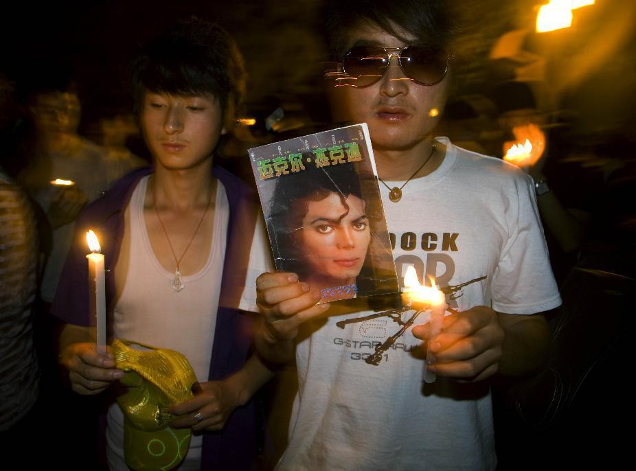 Fanoušci Michaela Jacksona v Číně