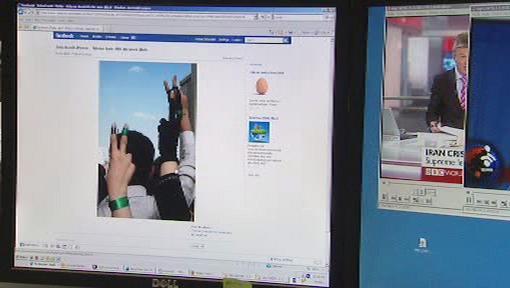 Íránské demonstrace na Facebooku